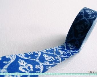 Royal Blue Toile De Jouy Washi Tape / Masking Tape - 10m