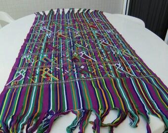 Wall hanging or table cover guatemalan handmade art