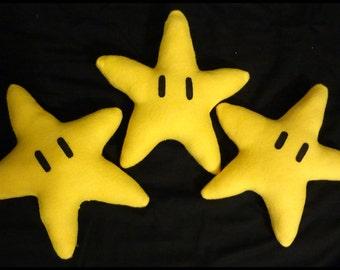 Mario Inspired Star Plush Toy