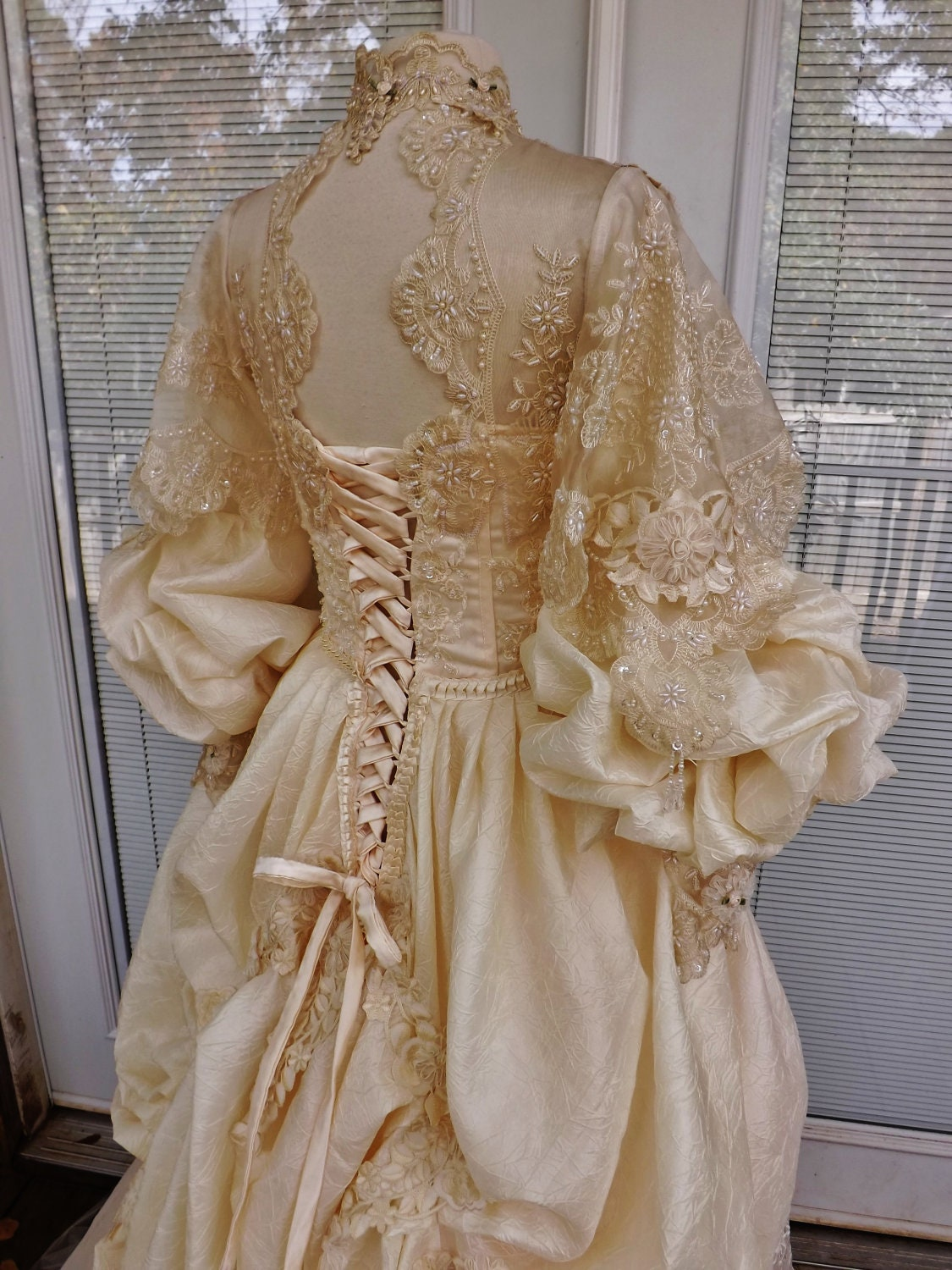 Victorian wedding dress theather movie performance costume for Victorian corset wedding dresses
