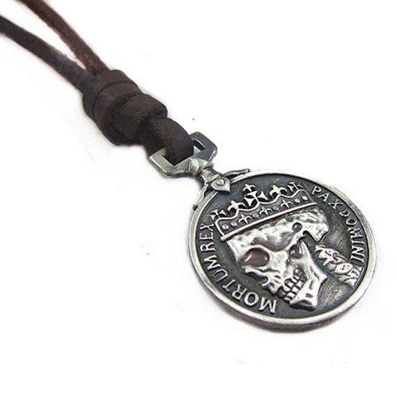 items similar to adjustable brown leather necklace alloy