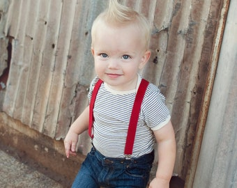 Boys Red Valentines Day Suspenders, Baby Boy Suspenders, Ring Bearer Outfit, Boy Accessories, 1st Birthday Boy, Kids Suspenders, Weddings
