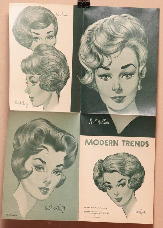 Vintage Hair Salon Poster 16x22 1960s