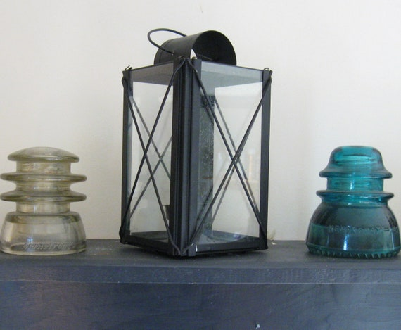 Colonial Style Black Candle Holder Lantern