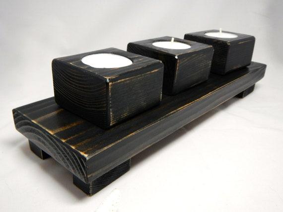 Wedding Or Mantel Center Piece Rustic Tea Light Candle