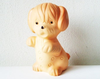 Puppy Toy, Dog Toy, Soviet Rubber Toy, Vintage Russian Toy, Children Gift, Collectible Nursery Decoration