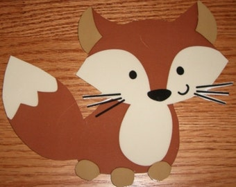 Forest Friends Fox 12 babyshower decorations,all handcrafted, adorable