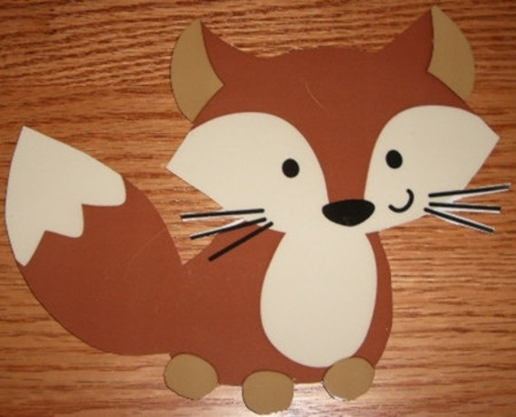 forest friends fox 12 babyshower decorationsall handcrafted