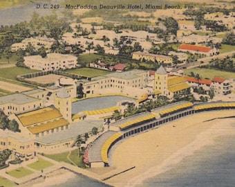 Vintage 1950's Postcard McFadden Deauville Hotel Miami Beach, Florida