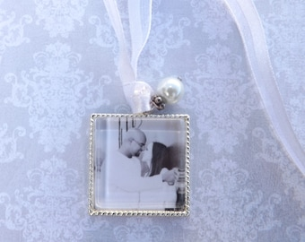 Wedding Bouquet Charm, Bridal Bouquet Photo Charm- PICTURE PRINTING INCLUDED