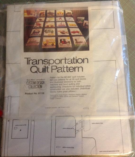 Transportation Quilt Pattern Cars Trucks By