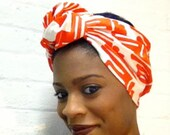 Open Top Printed Headwrap