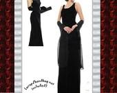 Holiday Sale....Formal Black Velvet Dress, Holiday, Christmas, Sleeveless, Womens 16 XL