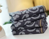 ST1020-2 - Bamboo Fiber Textile - Two Hand Towels,Towels,Pretty Towel - Gray