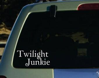 Twilight junkie  vinyl sticker