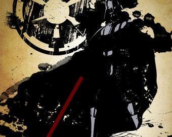 Star Wars Darth Vader Grunge Print