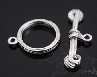 M138- 20set- Matt Rhodium Plated-Clasps