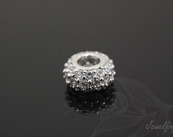 H065-10pcs-Luster Rhodium plated Plated
