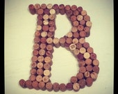 large real wine cork letter