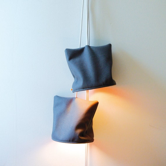 Wall Lamps Etsy : Items similar to two wall lamps cord made of wool felt on Etsy