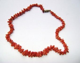 Vintage Italian  Coral Necklace Sale Now 95.00
