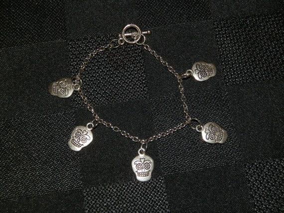 Sugar Skulls Charm Bracelet