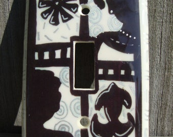 Afro centric Light Switch Cover