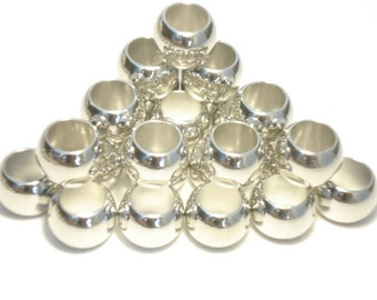 Wholesale 100pcs Diameter:1.35cm Silver Plated DIY Jewelry Findings Scarf Rings SA05544
