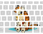 Classic Calvin and Hobbes Friendship Macbook Keyboard Decal Stickers