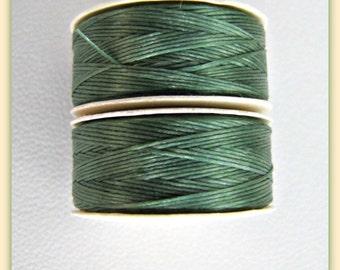 Green Beading Thread,  size D  Thread, Nymo Thread, Nylon Thread, Sewing Thread, Craft Thread, Seed Beading, Beadweaving Thread Item #116