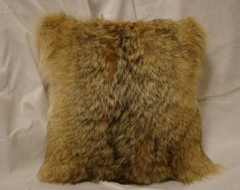 Genuine Coyote Fur Pillow Cover