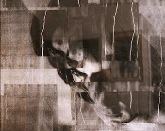 "MARCIN, 2002, 51"" x 35"", framed under plexiglass."