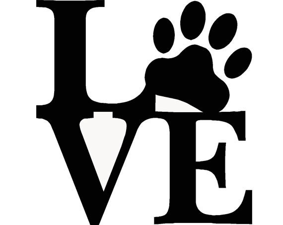 Pet Love Paw Print Dog Puppy Living Room Den Barn By