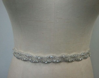 SALE - Wedding Belt, Bridal Belt, Sash Belt, Crystal Rhinestone Belt- Style B175