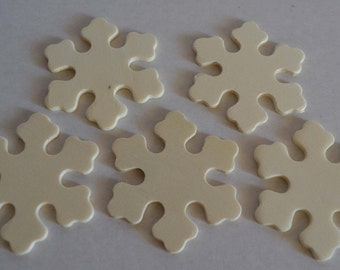 """2-3/8"""" Snowflake - Set of 5 Unfinished Wood Snowflakes - 1/8"""" Thick - DIY Christmas Ornament - DIY Ornament"""