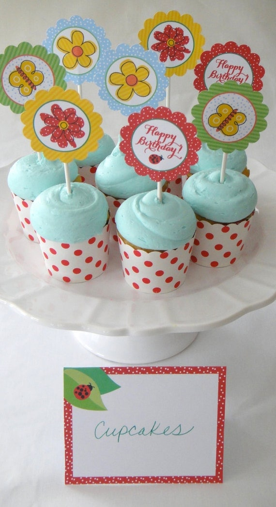 Flower Garden Party Collection, Custom Printable Birthday Party Invitation, Garden Theme