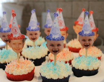 Photo cupcake toppers.  Set of 12