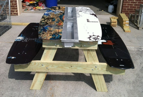 Items Similar To Wakeboard Picnic Table On Etsy