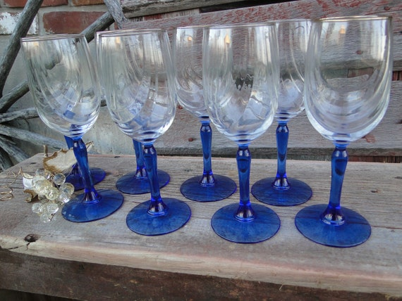 Reserved lenox blue stem 10 oz wine glasses draped bowl with - Lenox gold rimmed wine glasses ...