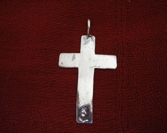 925 sterling silver  oxidized cross charm, pendant