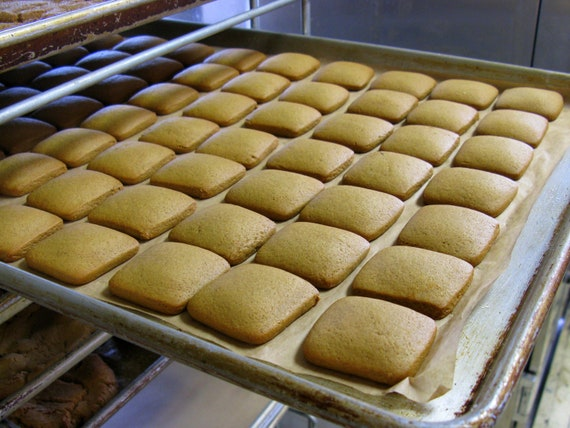 ... Gingerbread Squares / Bag of 14 (1/2 Pound) Plain Gingerbread Cookies