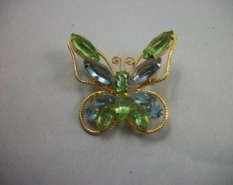 SALE   Beautiful Vintage Juliana Butterfly Brooch - Figural