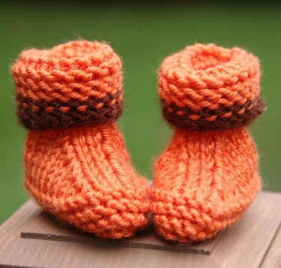 Super Easy Knitting Pattern Baby Booties Newborn 3 Months
