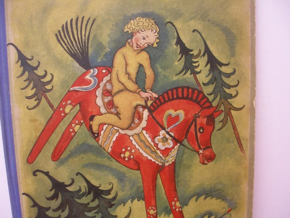 1930s The Red Horse Vintage Swedish Childrens Book A Christmas