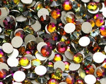 250  Swarovski Flat back stones size: SS12 (3.1mm) Choose 5 colors from MY list below color chart