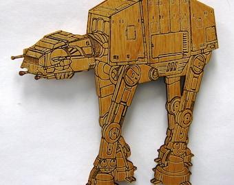 Star Wars AT-AT Walker Wooden Fridge Magnet