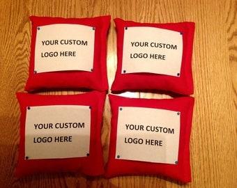 4 Custom Design Corn Hole bags Your Logo or Design