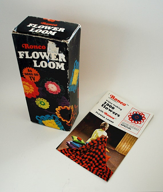 Vintage 1970's Ronco Flower Loom Kit With 1000 Flowers
