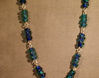 Necklace of Greens (and blues)