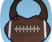 Instant Download In the Hoop Football Bib Embroidery Design